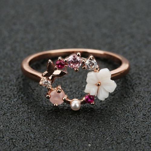 Butterfly Flower Ring