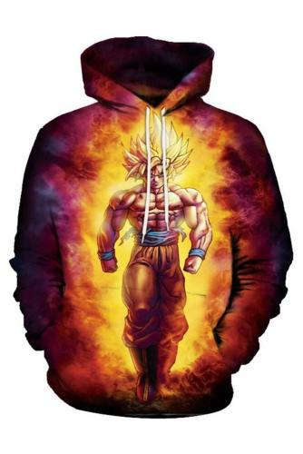 Unisex Goku Hoodies Dragon Ball Z Pullover Characters 3D Print Jacket Sweatshirt