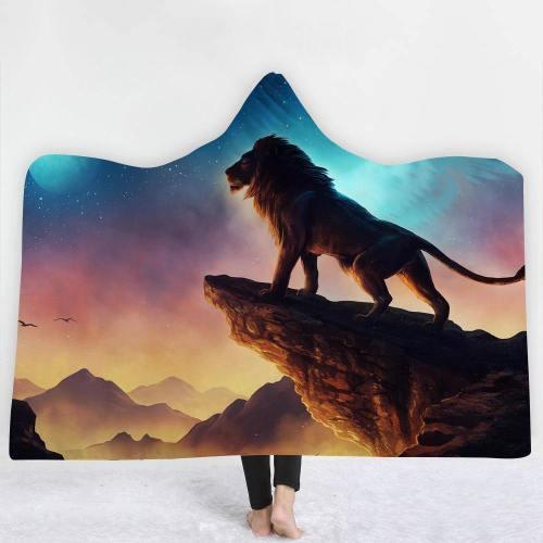 Limited Design: The Lion'S Pride Rock Hooded Blanket