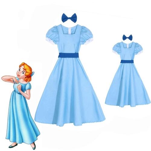 Wendy Darling Dress Peter Pan Costumes Girls Women Party Rachel Cosplay