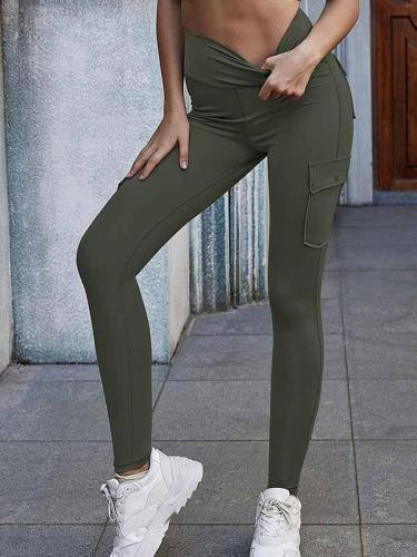 Women High Waisted Yoga Leggings With Pockets