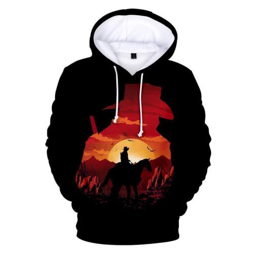 Fashion Red Dead Redemption 2 3D Hoodies Pullover