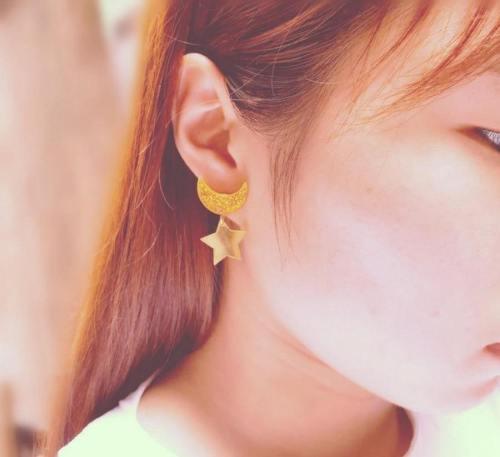 Sailor Moon Cosplay Kawaii Star Moon Space Earrings Ear Clip Gifts
