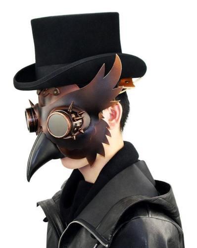 Plague Doctor Bird Mask Steampunk Beak Mask Halloween