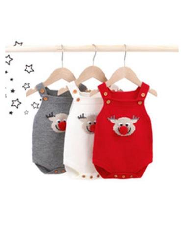 Knitted Baby Romper Reindeer Toddler Knitted Romper