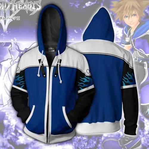 Kingdom Hearts Hoodie - Sora Wisdom Form Zip Up Hoodie Csos581