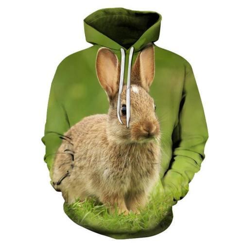 Rabbit Face 3D - Sweatshirt, Hoodie, Pullover