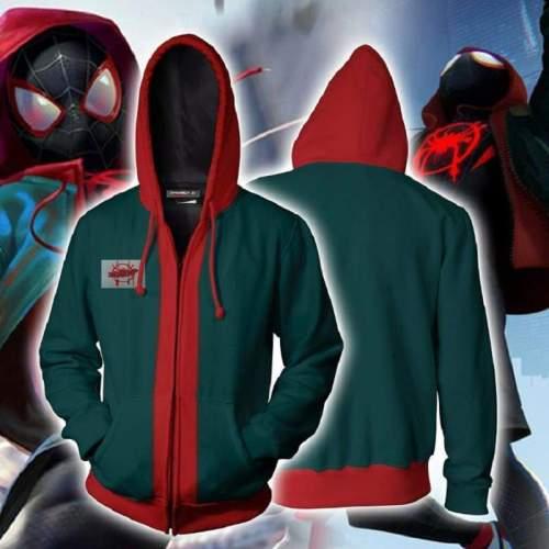 Spider-Man: Into The Spider-Verse Hoodie - Miles Morales Zip Up Hoodie