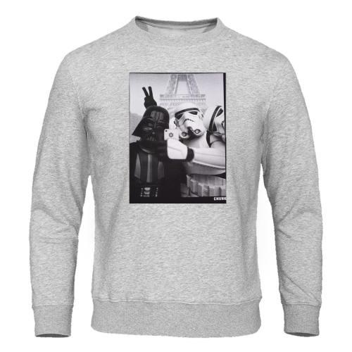 Star Wars Men'S Hoodies Jedi Selfie Stormtrooper Funny Print Male Sweatshirts Pullover Autumn Tracksuit High Quality Brand Hoody