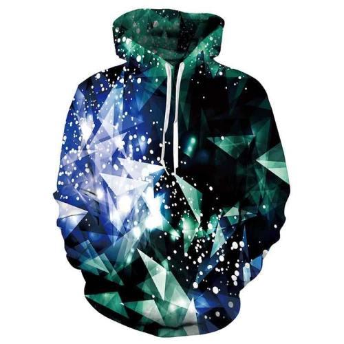 Mens Hoodies 3D Printed Diamond Hoodies Sweatshirt