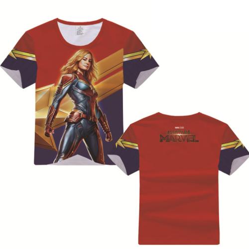 Captain Marvel T-Shirt - Carol Danvers Graphic T-Shirt Csost002