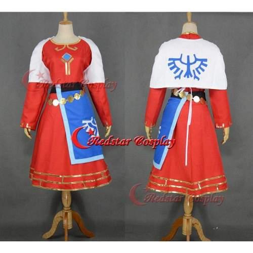 Princess Zelda Cosplay Costume From The Legend Of Zelda Skyward Sword