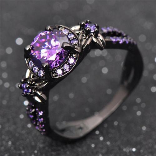 Charming Stone Purple Zirconia Ring