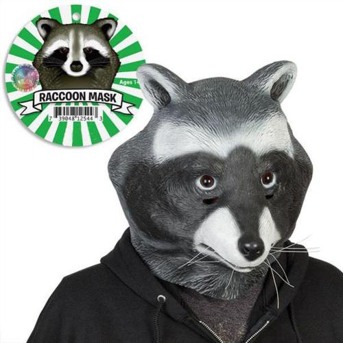 Halloween Animal Latex Helmet Racoon Wolf Leopard Cat Face Helmet Adult Cosplay Props