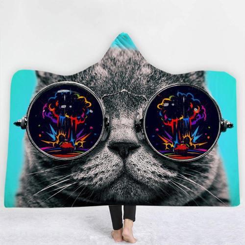Galaxy Cat Hooded Blanket