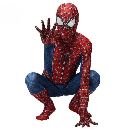 Kids Adult Classic Spiderman Costume 3D Spandex Spider Man Jumpsuits