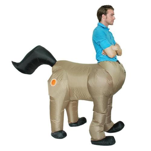 Halloween Costume For Men Adult Centaurus Inflatable Horse Costume Human Face Horse Body Cosplay