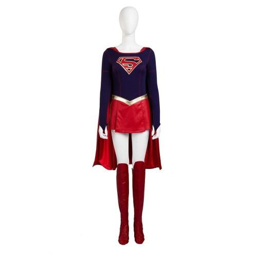 The Flash Supergirl Kara Zor El Costume Cloak Skirt Halloween Carnival Cosplay Costume