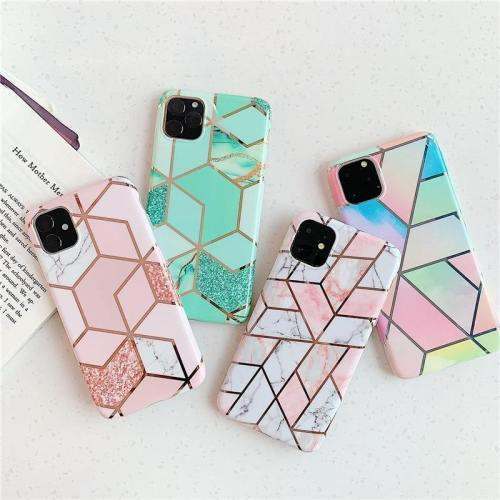 Lovely Geometric Pattern Marble Phone Case
