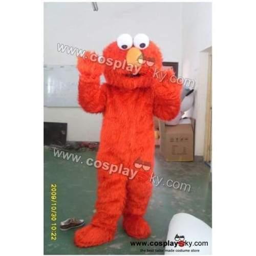 Sesame Street Muppet Elmo Mascot Costume Adult Size