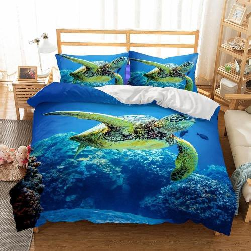 3D Sea Turtle Bedding Set