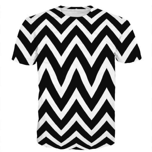 Black & White Hypnotic 3D T-Shirt V5