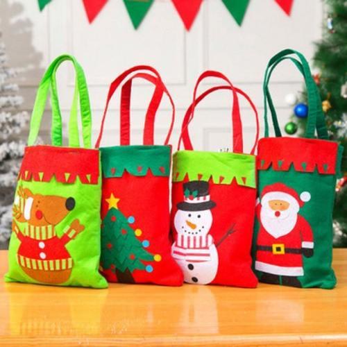 Merry Christmas Santa Sack Gift Bags Snowman  Decoration For New Year Xmas  Candy Bag Handmade Christmas Gift Bag