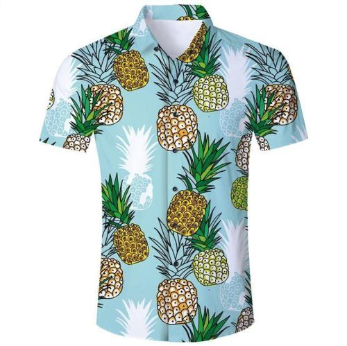 Mens 3D Printing Shirts Pineapple Pattern Style