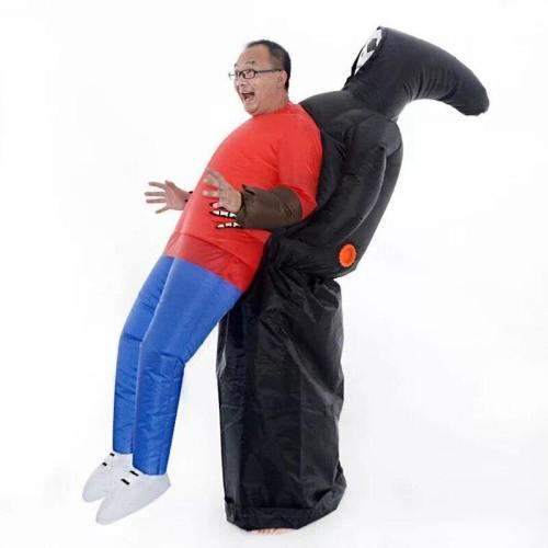 Horror Halloween Skeleton Ghost Dark Death Catch Me Inflatable Costume