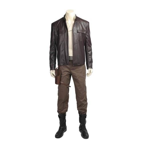 Star War The Last Jedi Poe Dameron Costume Halloween Cosplay Suit For Adult Men