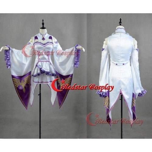 Re:Life In A Different World From Zero Emilia Elf Cosplay Costume Dress Any Size