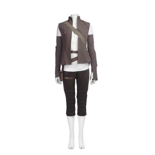 Star Wars 8 The Last Jedi Rey Suit Resistance Member Rey Cosplay Costumes Halloween Party