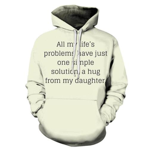 A Hug From My Daughter Mother Love 3D - Sweatshirt, Hoodie, Pullover