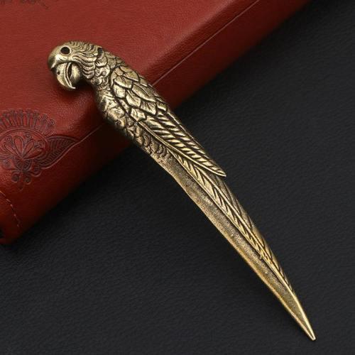 Vintage Copper Parrot Shape Tea Knife