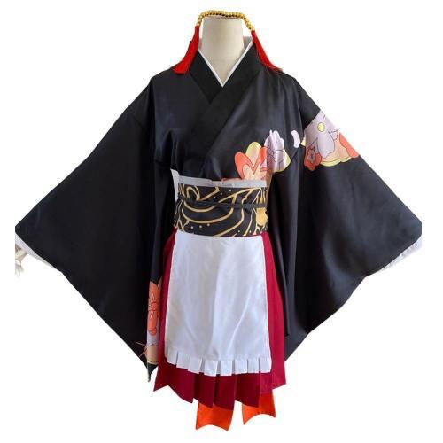 Anime Demon Slayer: Kimetsu No Yaiba Cosplay Costume Kibutsuji Muzan Lolita Maid Outfits Apron Dress