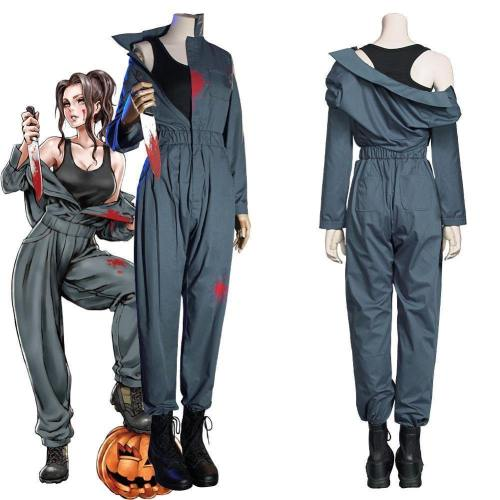 Movie Halloween Michael Myers Women Overalls Uniform Outfits Halloween Carnival Suit Cosplay Costume