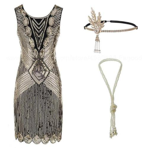 S Flapper Roaring 20S Great Gatsby Costume Fringed Sequin Beaded Dress And Embellished Art Deco Dress Accessories Xxxl