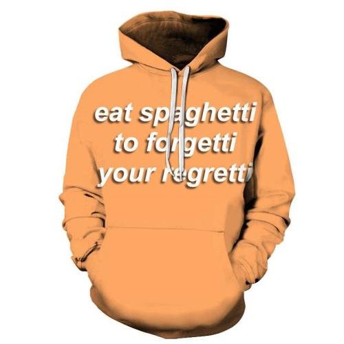 Eat Spaghetti Pasta 3D - Sweatshirt, Hoodie, Pullover