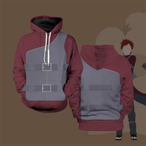 Naruto Hoodie - Naruto Shippuden Gaara Pollover Hoodie Csos104