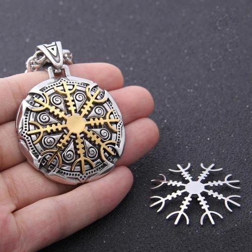 Detachable Viking Rune Pendant Necklace