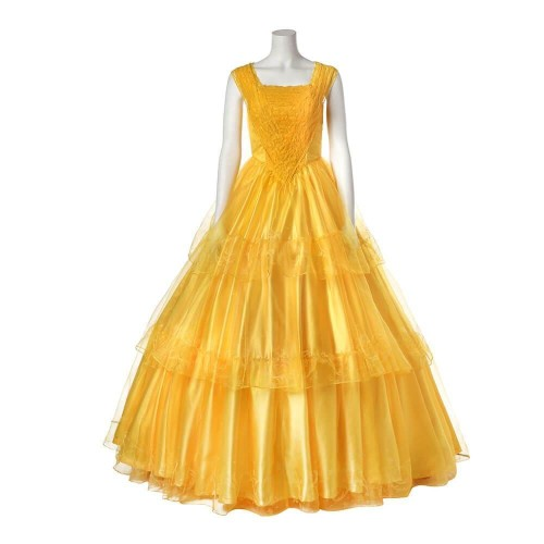 Movie Beauty And The Beast Princess Belle Dress Halloween Party Cosplay Costume