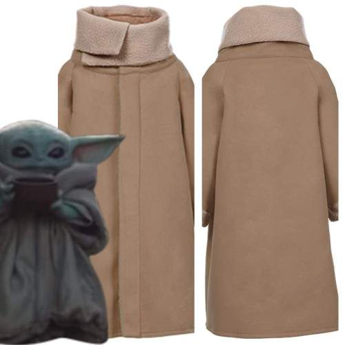 Star Wars Baby Yoda The Mandalorian Fleece Lined Coat Cosplay Costume