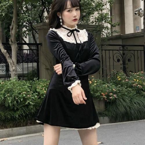 Victorian Vintage Gothic Lolita Dress Halloween Punk Dress Costumes