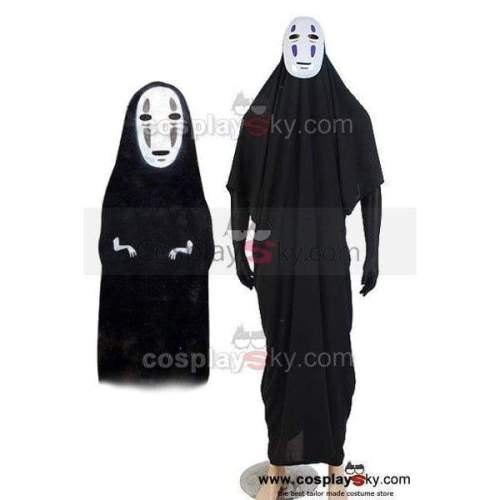 Spirited Away No-Face Coat Mask Outfit Cosplay Costume