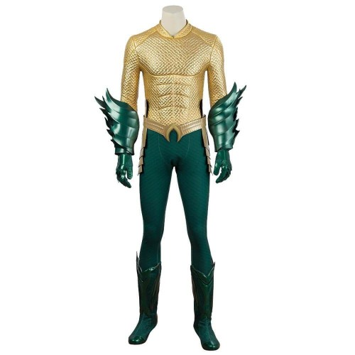 Justice League Arthur Curry Aquaman Cosplay Costume (High Quality Jumpsuit )