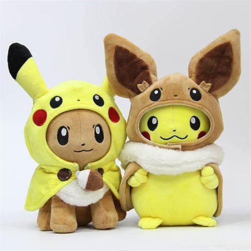 Pocket Animals Pikachu Eevee Gengar Plush Stuffed Dolls Toy Kids Gift