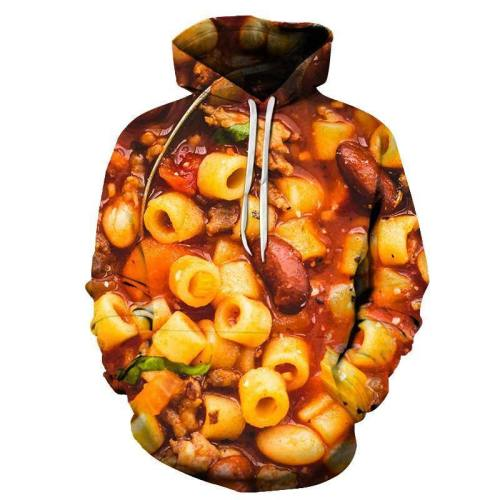 Anellini Pasta 3D - Sweatshirt, Hoodie, Pullover
