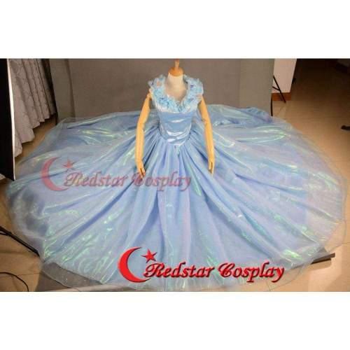 Cinderella Dress, Cinderella Costume, Cinderella 2015 Cosplay Costume For Girls Adult Dress