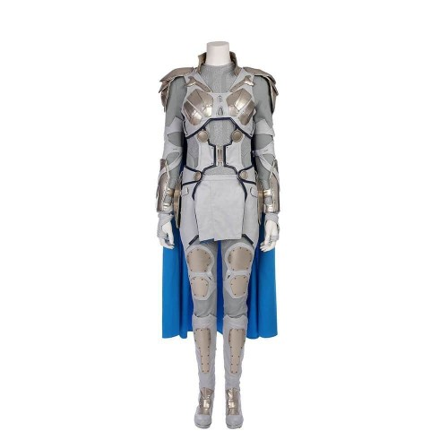 Thor 3 Ragnarok Valkyrie Costume White Suit Halloween Costume Full Set Outfit