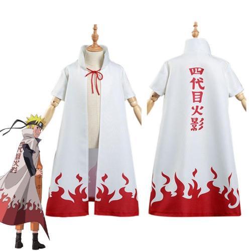 Naruto 4Th Hokage Namikaze Minato Kids Cloak Coat Halloween Carnival Suit Cosplay Costume